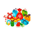 merry christmas presents concept vector image vector image