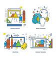 modern training design training training brain vector image vector image