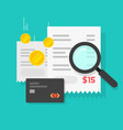 money or payment financial analysis research vector image vector image