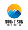 mount sun logo template vector image vector image