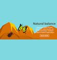 natural balance banner horizontal concept vector image vector image