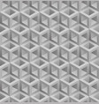 neutral gray cubes isometric seamless pattern vector image vector image