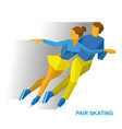 pair figure skating man and woman on ice vector image