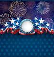 patriotic american background with fireworks vector image