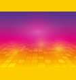 perspective purple yellow pink background with vector image