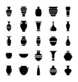 pottery glyph icons set vector image vector image