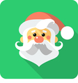 Santa Claus Face icon flat design vector image vector image