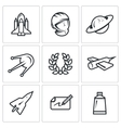 Set of A Space Flight Icons Spaceport vector image vector image