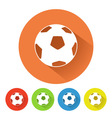Soccer ball symbol vector image vector image