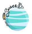 space rocket around world design image vector image vector image