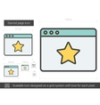 Starred page line icon vector image vector image