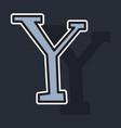 Sticker yahoo icon social company logo search vector image