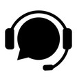 support service with headphones customer vector image