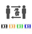 Swingers exchange girl icon vector image