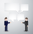 Two man speak blank bubbles vector image vector image