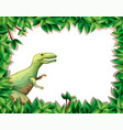 tyrannosaurus on nature border vector image