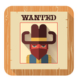 Wanted poster icon flat style vector image vector image