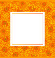 yellow chrysanthemum banner card vector image vector image