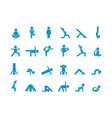 yoga human stick large set abs swing and vector image vector image