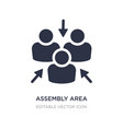 assembly area icon on white background simple