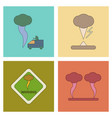 assembly flat icons natural natural disaster vector image vector image