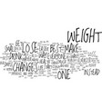 best way to lose weight text background word vector image vector image
