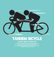 Black Symbol Tandem Bicycle vector image vector image