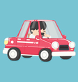 business man in car to work vector image
