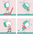 Cartoon Characters TVTOON 9 vector image