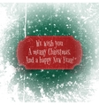 Christmas and happy New Year red greeting Banner vector image vector image