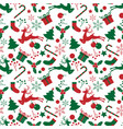 christmas elements seamless pattern vector image vector image