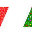 christmas tree card corner frame vector image vector image