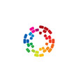 color wave logo icon design vector image vector image