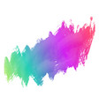 colorful grunge paint stroke background vector image vector image