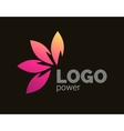 Colorful leaves logo design Four leaves logotype vector image vector image