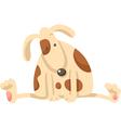cute puppy dog cartoon vector image vector image