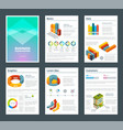 design of annual reports with colored pictures of vector image vector image