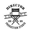 director chair emblem label badge or logo vector image vector image