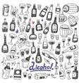 Doodle BottlesAlcohol vector image