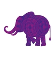 elephant indian isolated icon vector image vector image