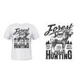 elk hunt t-shirt print mockup hunting club emblem vector image vector image