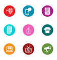 extensive news icons set flat style vector image