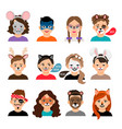 face painting kids vector image vector image