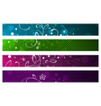 Floral Abstract Banner Set vector image vector image