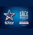 fourth july independence day sale banner vector image