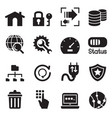 ftp server and hosting icon set vector image vector image
