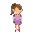 girl stand up vector image vector image