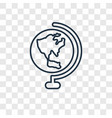 globe concept linear icon isolated on transparent vector image vector image