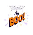 halloween boo spider vector image