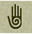 Hand with spiral symbol vector image